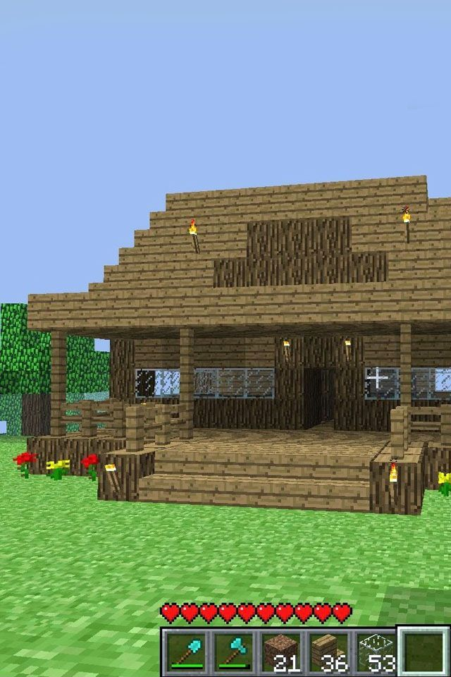 Mine craft house this is a good one minecraft for Easy homes to build