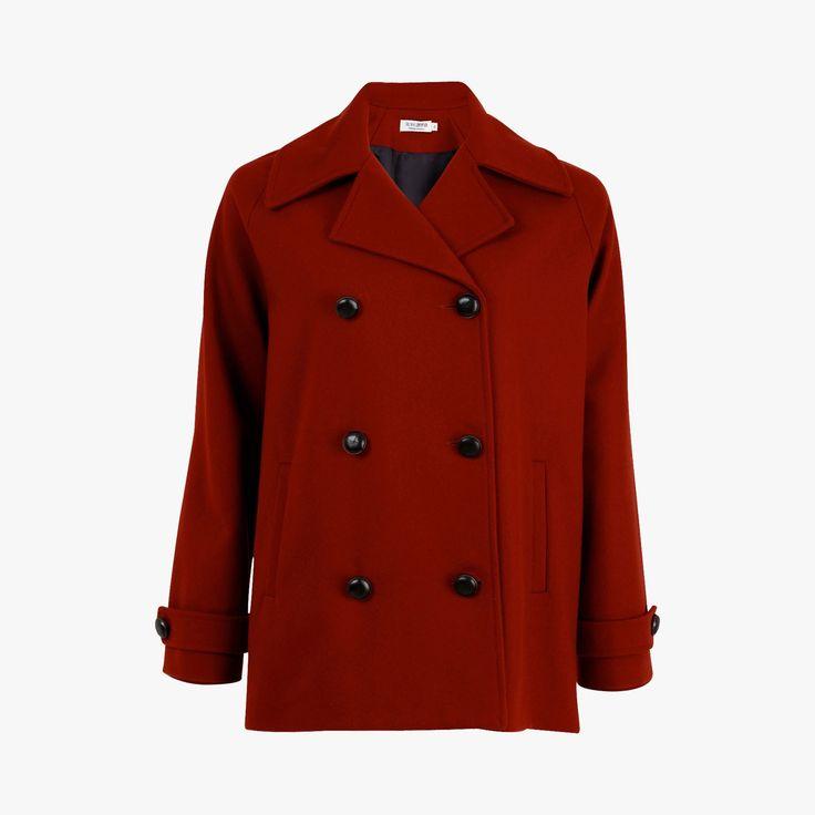 Caban rouge boutons noirs - ROSEANNA - Find this product on Bon Marché website - Le Bon Marché Rive Gauche