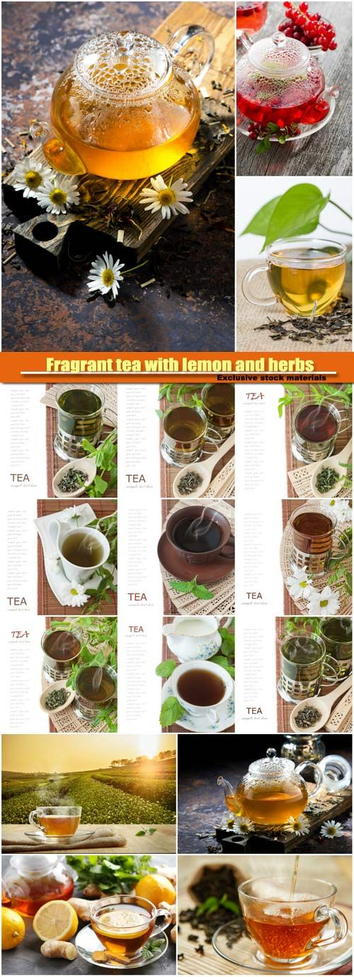 Fragrant tea with lemon and herbs