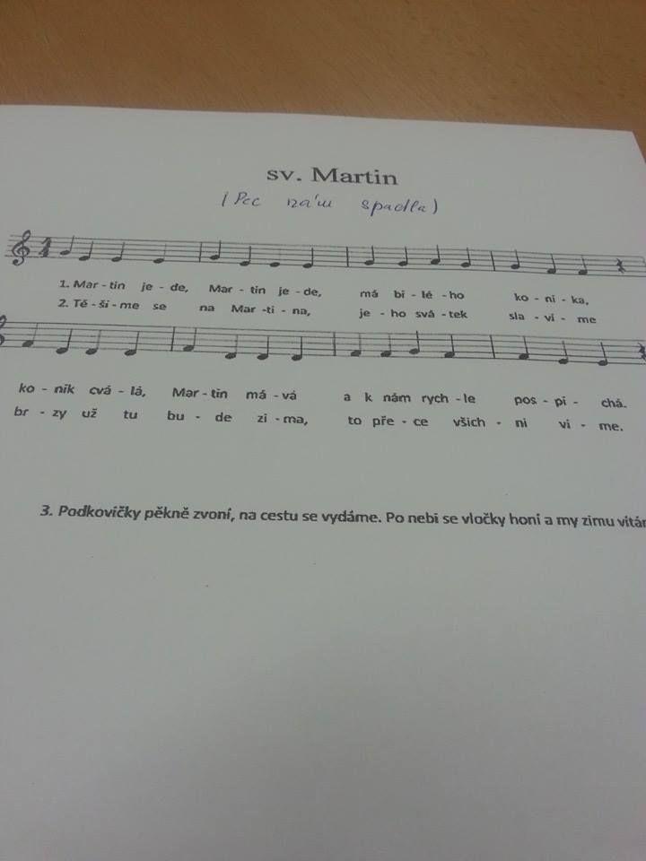 písnička sv.Martin
