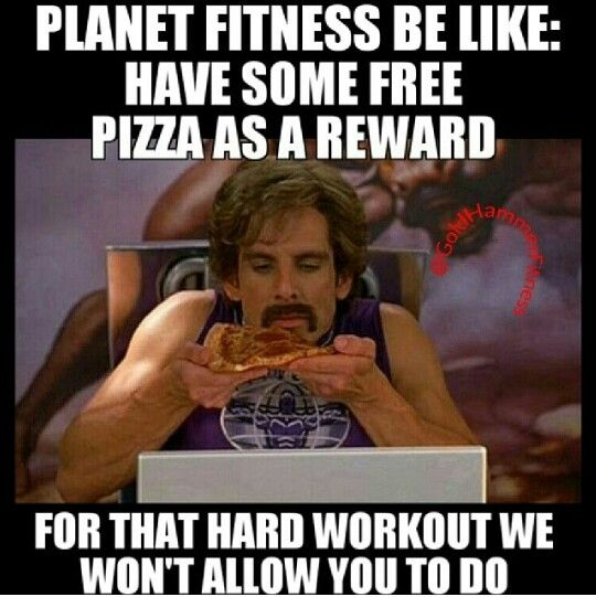 eww, i heard about that. they took away the squat racks because it was too intense for some people and they offer free pizza on mondays. how is that promoting a healthy way of life?! ughhhhh