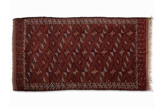 Jomud Nomad Carpet, Turkmenistan, early 20th Century Sheep's woolTurkmenistan, c. 1900Jomud nomad