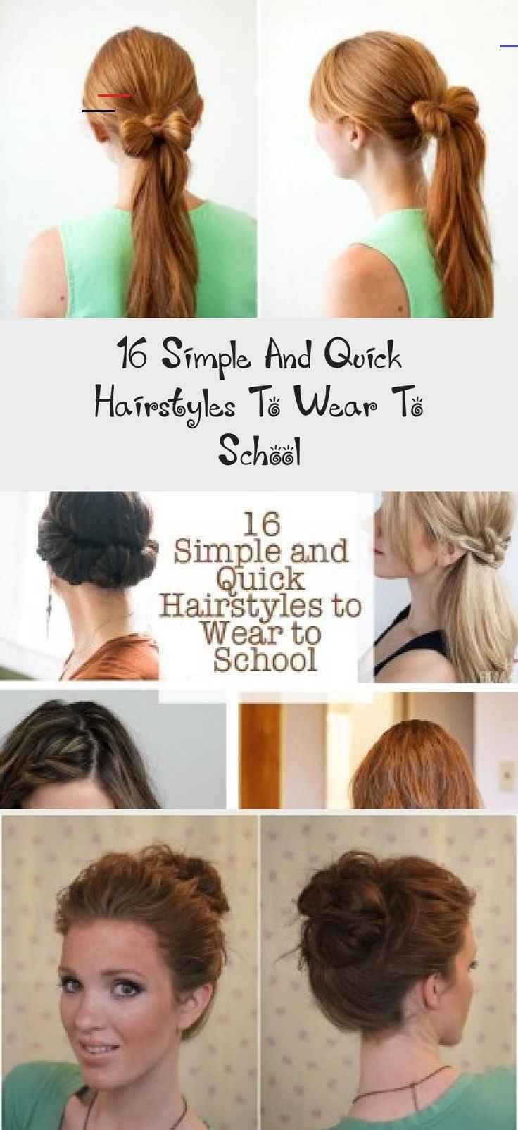 16 Einfache Und Schnelle Frisuren Fur Die Schule Frisur 16 Einfache Und Schnelle Frisur In 2020 Quick Hairstyles Quick Hairstyles For School Hairstyles For School
