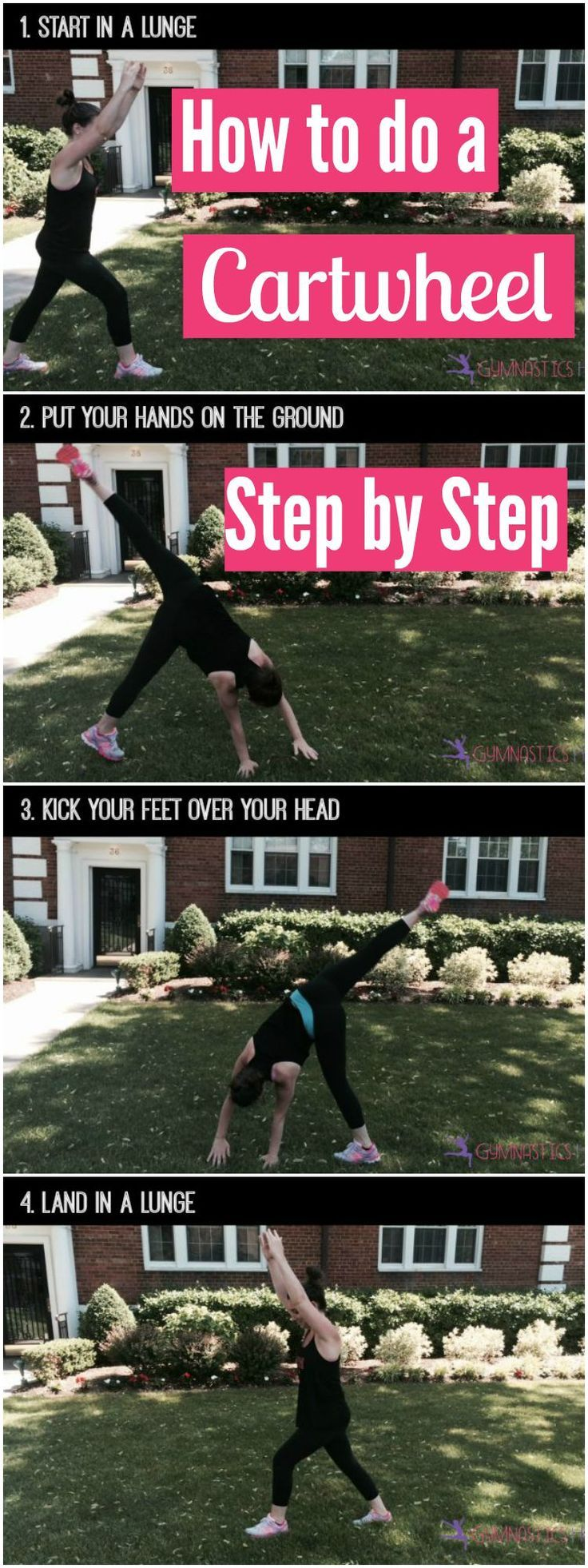 how to make a cartwheel step by step