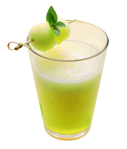 Melon Ball Drop: 2 oz. melon liqueur, 1 oz. citrus vodka, ½ oz. elderflower liqueur, juice of ½ lemon and a melon ball for garnish. Pour the first four ingredients into a cocktail shaker filled with ice. Shake well and strain into chilled cocktail glass. Garnish  with melon ball.