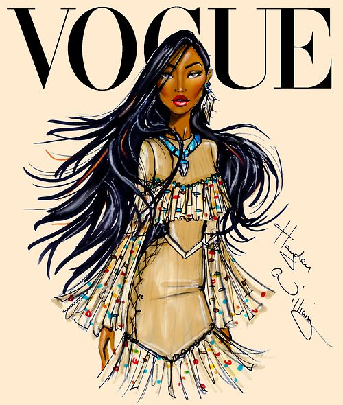 Disney Divas for Vogue by Hayden Williams: Pocahontas