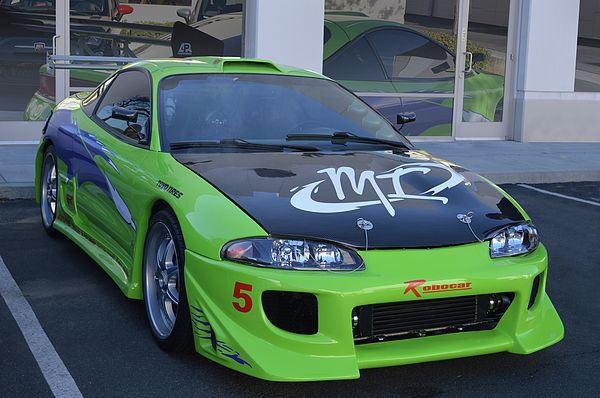 Paul Walker's Mitsubishi Eclipse, one of the most iconic of the Fast and Furious series. Seen at West Coast Exotics, cars and coffee open house, Murrieta California