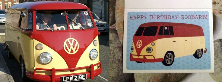 A personalised greeting card of a very special Campervan!