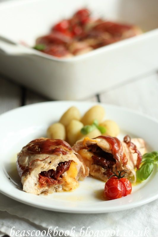 CHICKEN FILLETS STUFFED WITH CHEESE AND SUN-DRIED TOMATOES – Bea's cookbook