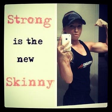 """Strong is the new Skinny!"" THAT'S RIGHT! (Fitness Model Amanda Adams)  Join The Amanda Adams Bikini Body Program: 12 Weeks of workouts, Nutrition 101, Meal Plan, Recipes, and more! www.AmandaAdams.com"