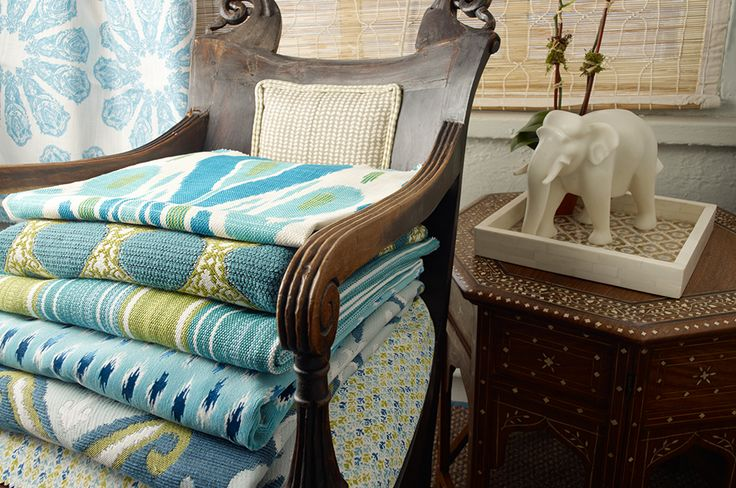 Classy blankets with ornate and colorful patterns.