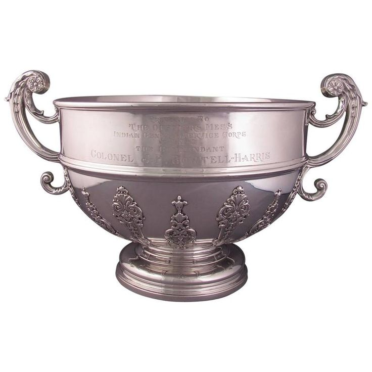 Massive Edwardian Sterling Silver Punch Bowl | From a unique collection of antique and modern serving bowls at https://www.1stdibs.com/furniture/dining-entertaining/bowls/