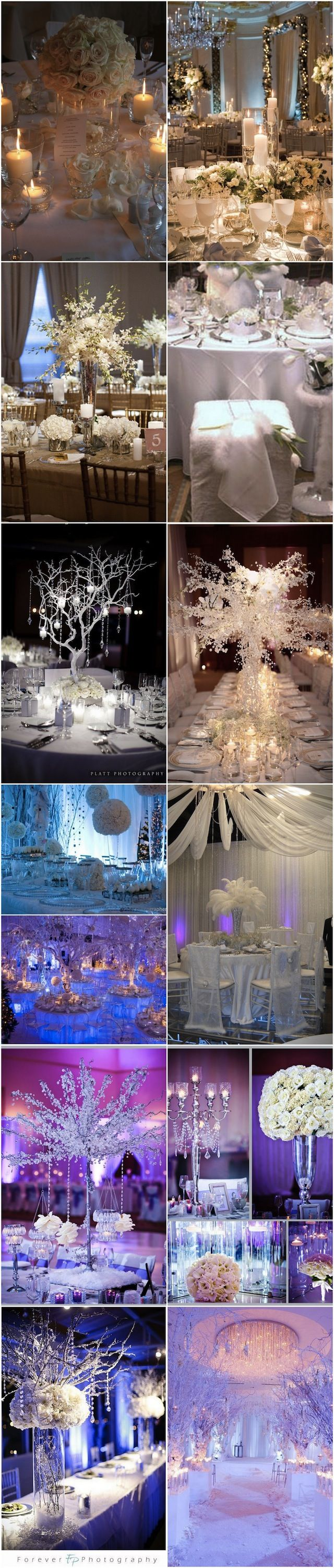 Lovely white tablescapes