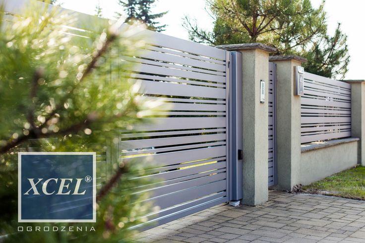 nowoczesne ogrodzenie poziome horizon wood modern fence