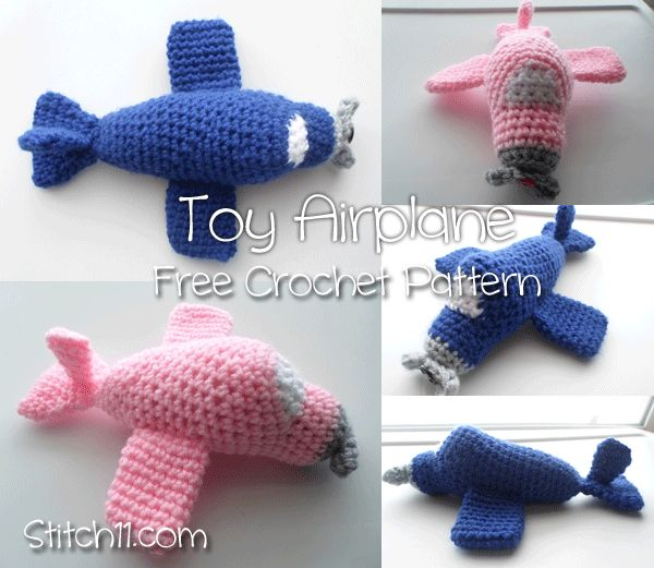 Free-Crochet-Pattern-Toy-Airplane