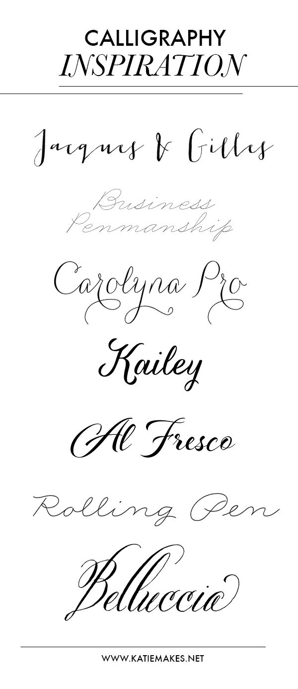 As I've been diving into the world of calligraphy and hand-lettering, I'm finding it's easy to become overwhelmed with the multitude of styles out there! My aim is to choose the style that comes most naturally to me, and then expand from there. I've put together a collection of some gorgeous calligraphy fonts for your inspiration and/or purchase. Jacques & Gilles // Business Penmanship // Carolyna Pro // Kailey // Al Fresco // Rolling Pen // Belluccia