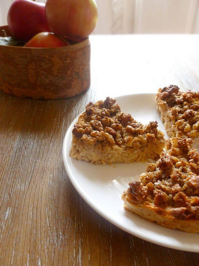 Fondant aux pommes et croustillant de noix à l'érable - Apple fondant with walnut-maple crumble
