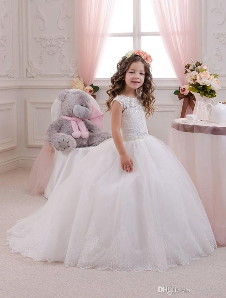 New Arrival Princess Puffy Toddler Ball Gown Abiti Da Comunione Tulle Skirt First Communion Dresses for Girls Lace Flower Girl Dresses Flower Girl Dresses Sleeveless Flower Girl Dresses Girls Communion Dresses Online with $88.0/Piece on Mfsdresses's Store | DHgate.com