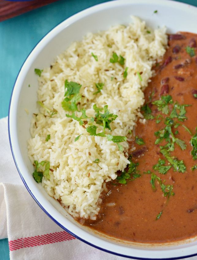Punjabi 'Rajma' - Red Kidney Beans Curry in a Rich Tomato Sauce - Generally served with basmati rice