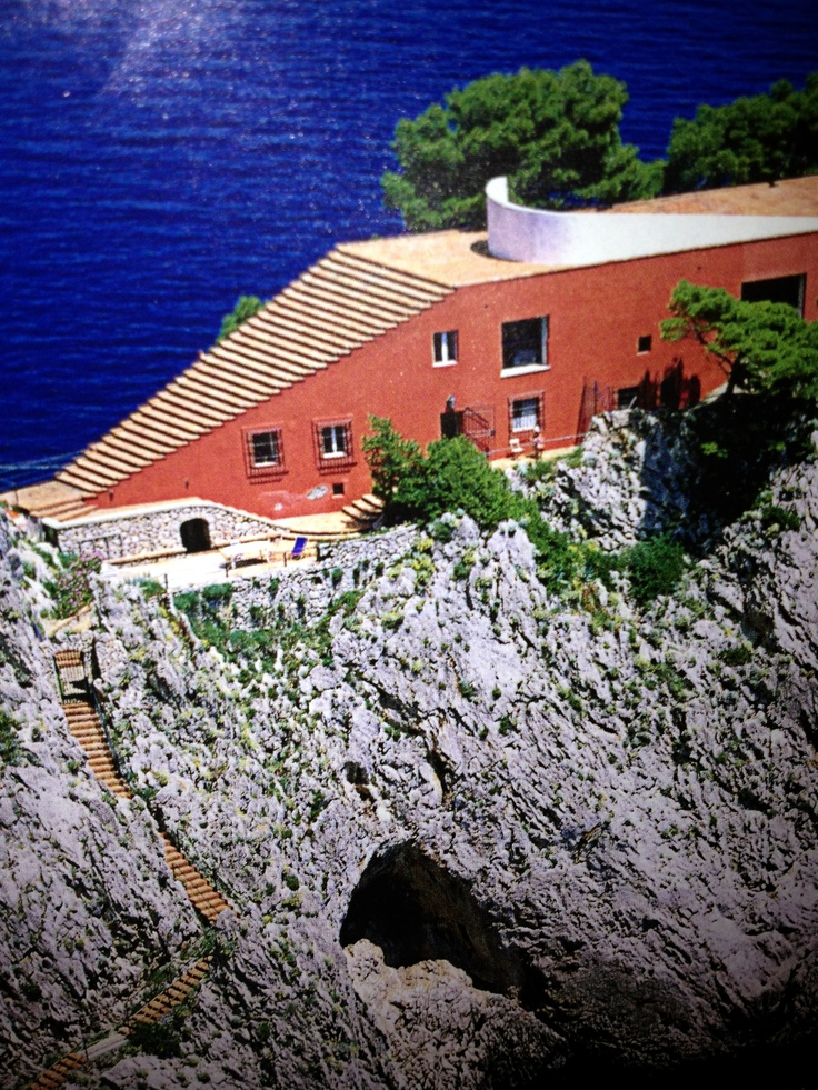 Casa Malaparte built in 1942 on the island of Capri