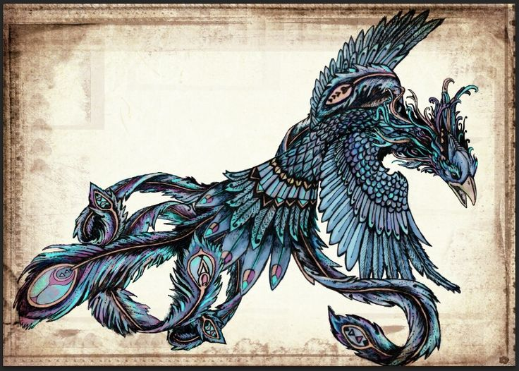 Commission piece Blue Phoenix by Jamie Berry.