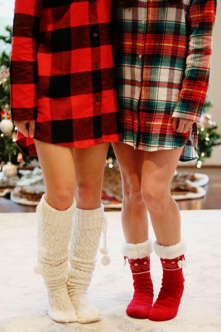Blogger Christmas pajama party, Christmas pajamas, buffalo plaid pajamas #christmas #plaid #buffaloplaid #pajamas