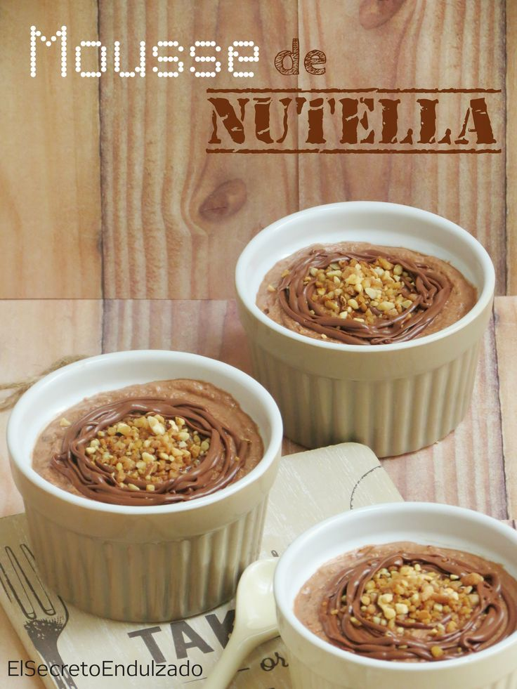 Mousse de NUTELLA (Sólo 2 ingredientes)
