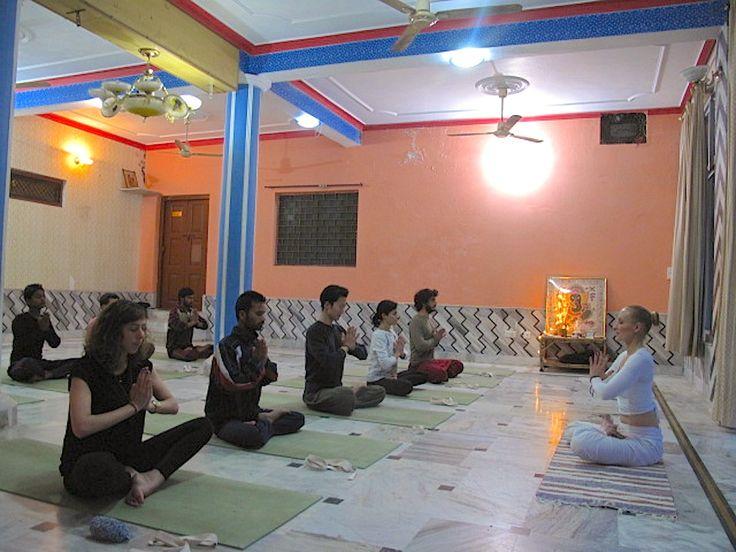 Yoga class, Risiheksh, India