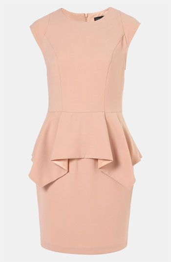 Topshop Peplum Pencil Dress - @Lauren Nolan