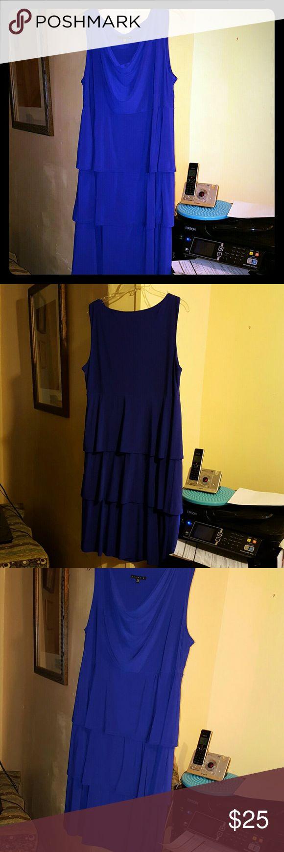 Dress, Royal blue 16W Tiana B. Tiana B. Dresses Midi