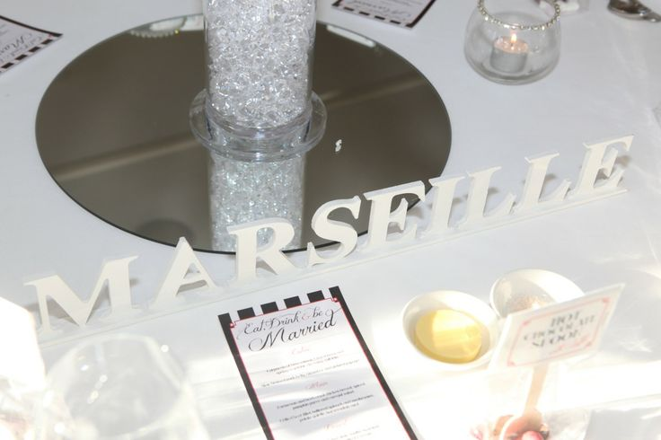 DIY WeddingTable Names! Our tables were named after famous French cities. #wedding #tablenames #diy