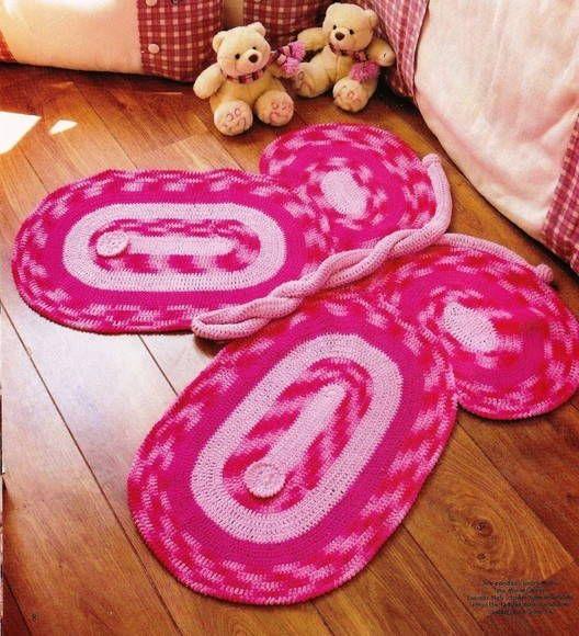 17 Best images about Tapetes de crochê on Pinterest  ~ Tapetes Para Quarto Infantil