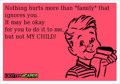 Image result for family that ignores your child