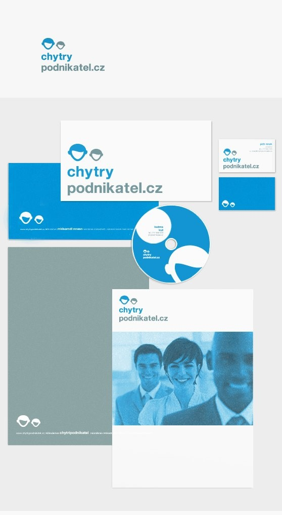 Logotype and corporate identity Chytry Podnikatel.