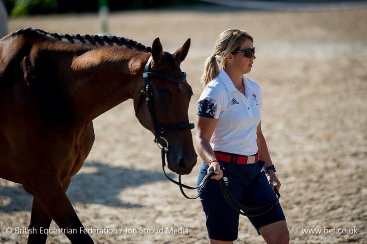Kitty King and Ceylor LAN at yesterday's eventing trot up