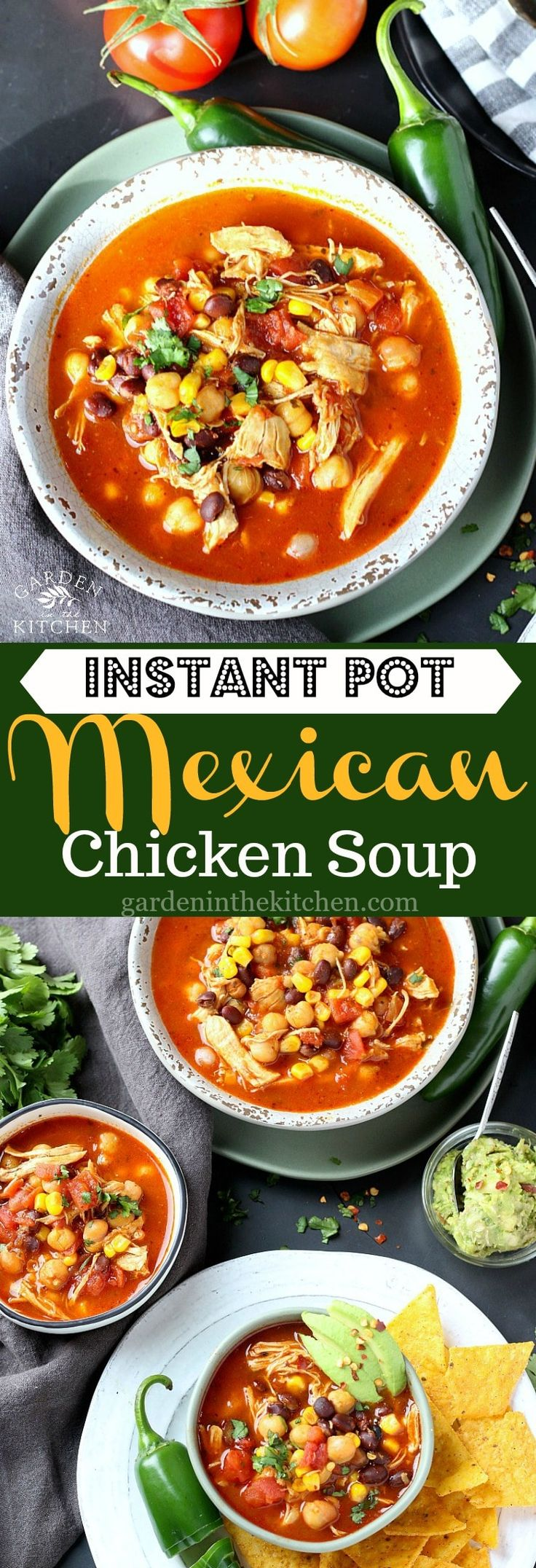 Instant Pot Mexican Chicken Soup, perfect for Cinco de Mayo!
