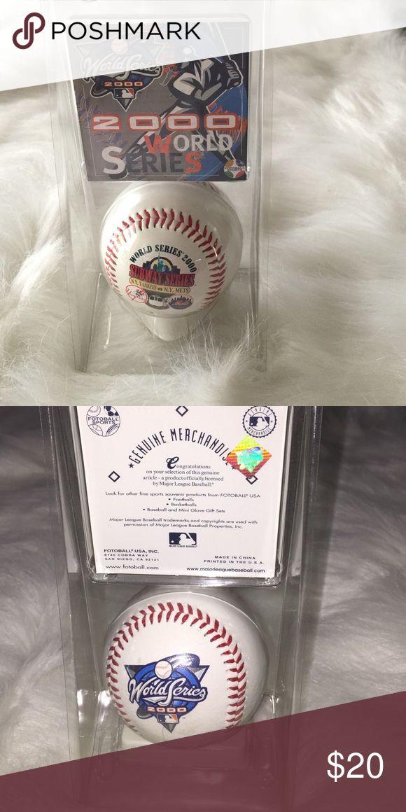 2000 World Series Baseball MLB Licensed 2000 World Series Subway Series between NY Yankees vs NY Mets MLB Licensed Other