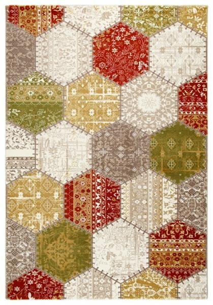 Fesitval Neva 9809A sari  geometrik desenli halılar