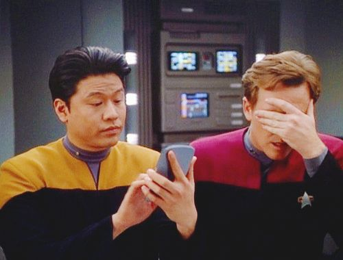 Kim and Tom, best bromance in Star Trek Universe. Yes, even better than Kirk and Spock ... almost ...