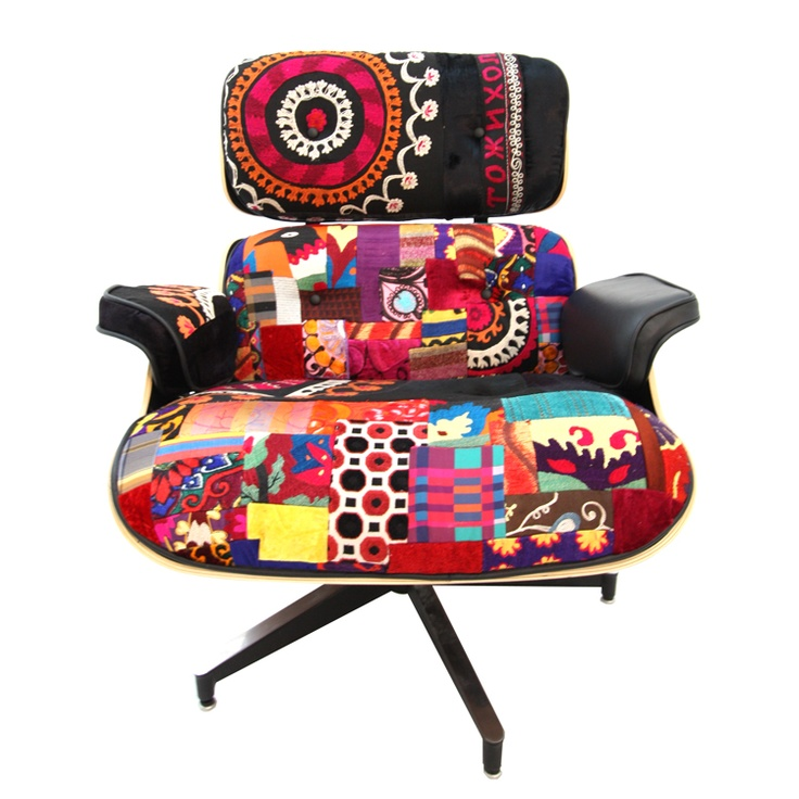 Charming Xalcharo Collection   Ema Chair In Patchwork And Suzani Originally  Designned By Eames