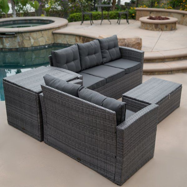 Rowley Patio Sectional With Cushions Patio Sofa Set Patio