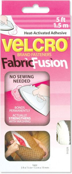 VELCRO® Fabric Fusion Heat-Activated Adhesive 3/4inX5' White