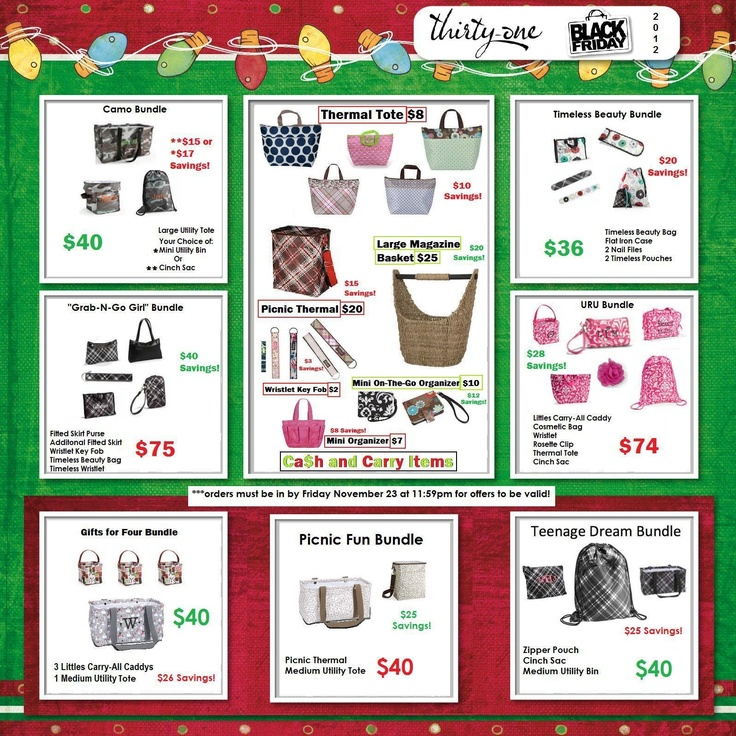 My Thirty-One Black Friday Ad! Items will be in before Christmas!Thirty On Black, Friday Ideas, Friday Deals, Email, Friday Flier, Friday Ads, Christmas, Thirtyone Black, Black Friday