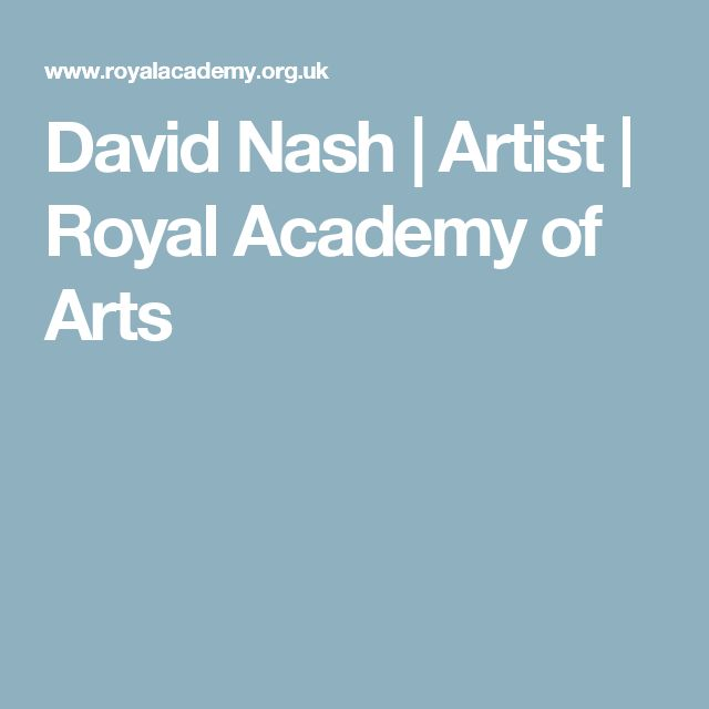 David Nash | Artist | Royal Academy of Arts