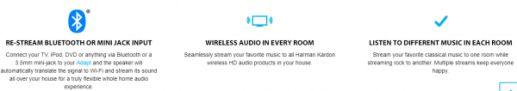 Bộ thu bluetooth Harman Kardon Adapt wifi  biến loa thường thành loa bluetooth phát nhạc không dây