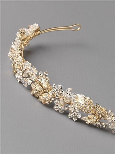 Affordable Elegance Bridal - Crystal and Rhinestone Floral Bridal Headband in Silver or Gold, $89.98 (http://www.affordableelegancebridal.com/crystal-and-rhinestone-floral-bridal-headband-in-silver-or-gold/)