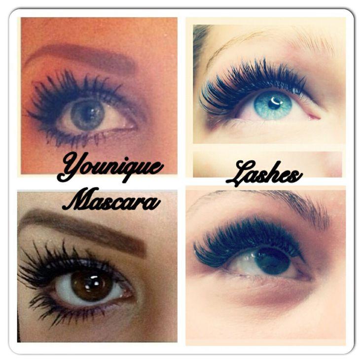Comparison on Younique mascara to lash extensions