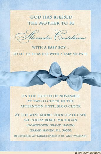 Baby Blessings Shower Invitation