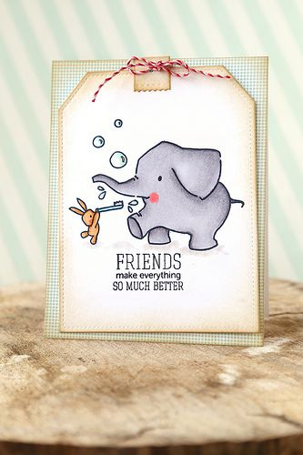Ella and friends {mama elephant stamp highlight}