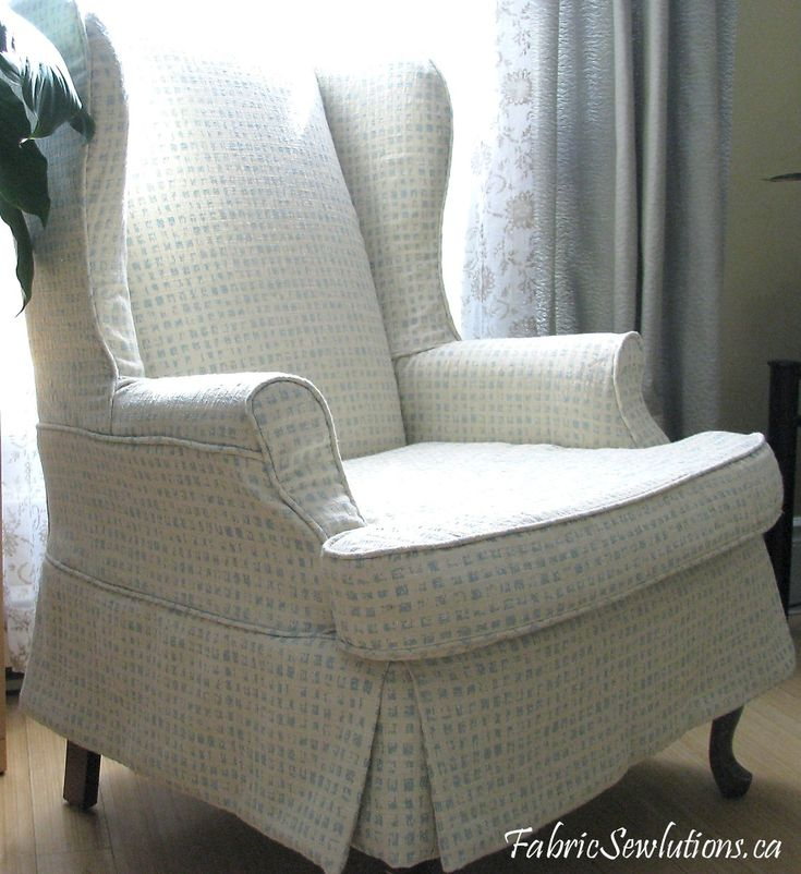 Fabric Slipcovers For Wingback Chairs   Check Out The Pleated Skirt On This  Lee. What Do You Think?